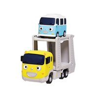 Wholesale Carry and Bongbong The Little Bus Tayo Korean TV Animation Toy Pull back Car Die cast Toy Vehicle