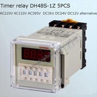Wholesale Digital Display timer time relay switch dh48s z with socket together AC V V V V DC AC V V alternative