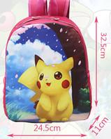Wholesale 12 Style Hot Poke Pikachu Sofia Minions Sweet Girls Backpacks Children Kids Cartoon Shoulder Bags Unisex Boys Girls School Bags L WX B02