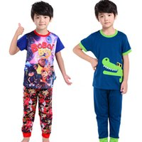 asian boy clothes - south Asian cartoon crocodile boys clothing sets years kids pajamas baby pyj sleepwear knitted pjs sets toddler clothes suits
