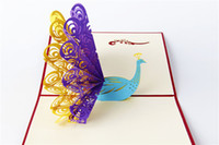 Wholesale 3D Pop Up Greeting Cards Anmial Handmade Birthday Best Wish Christmas Wedding