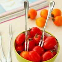 Wholesale Stainless Steel Fruit Forks Cutlery Dessert Fruit Forks For Restaurant Cafeteria Home Flatware For Fruit Salad cm