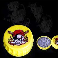 beer teeth - Plastic Portable Funny Beer Cap Shape Grinder Part Tobacco Smoking Grinders Hookah Pipe Herb Grinder Herb Shark Tooth Crusher