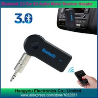 Wholesale Bluetooth Car Kit Audio Music Receiver Adapter Universal mm Streaming Car A2DP Wireless Bluetooth Car Kit AUX Audio Music