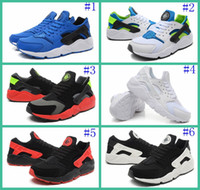 Cheap With Original Box 2016 New Air Huarache Mens Sneakers Black White Sneakers Lightweight Running Shoe Huaraches Size 40-46