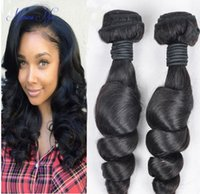 advantage hair - Advantage Price Top Quality Full Cuticle Unprocessed Double Weft No Shedding No Tangling Brazilian Virgin Human Loose Wave Hair Weft