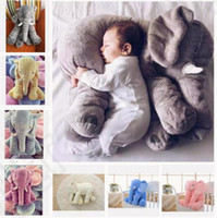 baby big nose - Christmas plush toy elephant pillow baby doll children sleep pillow birthday gift INS Lumbar Pillow Long Nose Elephant Doll Soft Plush