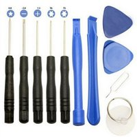 Wholesale 11 in Opening Tools Kit Pry Repair Tool With Screwdriver for iPhone Samsung Galaxy S4 DHL free
