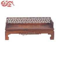 Wholesale Treasure house carved mahogany furniture Luo Hanchuang pure wood sofa bed Lohan bed couch antique crafts special offer
