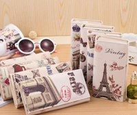 american flags photos - Hot Sale Colors Women Long Wallet PU leather Paris Flags Eiffel Tower Style Lady Coin Purses Clutch Wallets Money Bags TOP1167