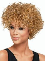 Wholesale Natural Short Kinky Curly Wig Cheap Fashion Heat Resistant Synthetic Hair Wigs Women s Wigs wig cap HJ013