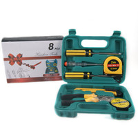 Wholesale MOQ whole sale W8pcs industry house tools case Manual hardware tools kit