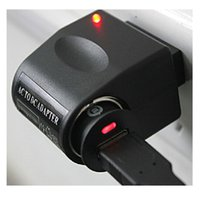 Wholesale Universal Black EU Plug V AC Wall Power to V DC Car Cigarette Lighter Adapter Converter
