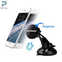 Wholesale Clear Stock EXCELVAN Universal Magnetic Car Phone Holder Windshield and Dashboard Mount Holder Stand Fast Swift Snap for iPhone