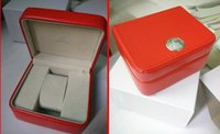 Wholesale Factory Seller lowest price Luxury new square red box for omega watches booklet card s and papers in english