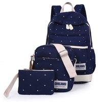 arc canvas - Woman fashion canvas backpack straps new arc colors hologram mochila Bag Set