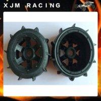 baja tires - Rear Sand Paddle Wheels Tires Fit RC car ROAVN King Motor HPI Baja B tire ring