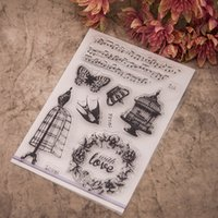 Wholesale Vintage Words Transparent Clear Silicone Stamp Seal for DIY scrapbooking photo album Decorative clear stamp sheets