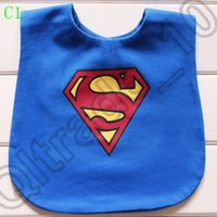 Wholesale 100PCS MMA63 Bow Toddler Kids Strap Superman Tuxedo Suit Bibs Waterproof Bibs Baby Wear Accessories Kids Cotton Apron Handkerchief
