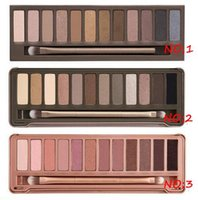 Wholesale 3pcs Professional NUDE colors eyeshadow palette beauty makeup palette Smoky eye shadow Makeup Set Cosmetic Set