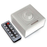 Wholesale DC V V A Key wall switch infrared remote dimmer controller for SMD single color LED strip