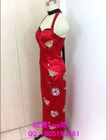 ada wong - Cos Resident Evil V Ada Wong Red Cheongsam Qipao Cosplay Costume Custom Long Prom Dresses with Holster Sexy Clothing Set Girl