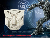 autobot car badge - New Arrival Solar Car Sticker Autobot Decepticon Emblem Badge Solar Rear Trunk Flashing Warning Light Strobe Light Car Styling