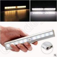bedroom closet cabinets - LED Night Light LEDs Motion Sensor Closet Cabinet Light Auto Infrared Induction Lamp Nightlight For Bedroom Sensor Lights CCA5104