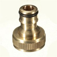 Wholesale Hot Sale New Arrival Solid Brass Threaded Tap Garden Hose Connect Adaptor Tap Snap Fitting Pipe