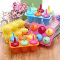 Wholesale Hot Cell Summer Pop Popsicle Mold Tray Pan Frozen Lolly Mould Ice Cream Maker