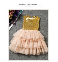 autumn cake - Baby Girls Lace Tutu Dresses Hug Me Kids Tiers Tulle Cake Party Gowns for Children Vest Sequins Princess Baby Kids Dresses MC0002