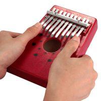 Wholesale SEWS Hot Sale Red Keys Kalimba Thumb Piano Traditional Musical Instrument Portable Great Gift Drop Shipping