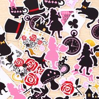 beautiful alice - 40pcs Self made Beautiful Alice Wonderland Scrapbooking Stickers DIY Craft DIY Sticker Pakc Photo Albums Deco Diary Deco