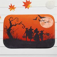 Wholesale newest x60cm Halloween Twilight Pattern Rectangular doormat Carpet Living Room Dining Room Kitchen Anti Skid Foot Mats