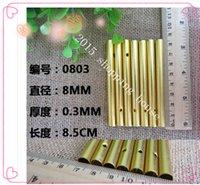 50pcs 8.5cm tubes procédé de décoration d'artisanat métalliques purs bricolage en aluminium Creative Campanula or tube creux diamètre 8MM