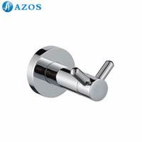 bath shower hardware - AZOS Wall Mounted Bath Towel Hooks Toilet Accessories Bathroom Shower Hardware Components GJQC4002