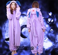 adult fleece pajamas - HOT Poke Espeon Adult Fleece Onesies Kigurumi Anime Pajamas Cosplay Sleepwear Size S M L XL