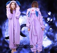 onesies - HOT Poke Espeon Adult Fleece Onesies Kigurumi Anime Pajamas Cosplay Sleepwear Size S M L XL