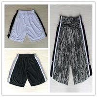 Wholesale Top Auality For Cheap Mens San Antonio Retro Basketball Shorts In White Black Multi Hot Sale
