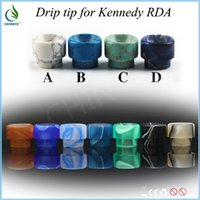Wholesale New arrival resin drip tip colors kennedy top tips mouthpiece fit rda atomizer aspire protank subtank low price