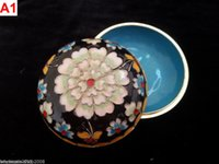 hand painted jewelry box - 3 Colors Handmade China Hand Painted FILIGREE CRAFT Cloisonne Jewelry Box Ornaments