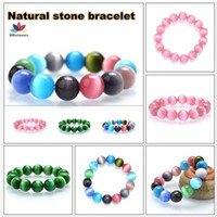 american girl cat - Natural stone bracelet beads bracelet cat eye stone bracelet for ladies girls gift for Christmas Gifts