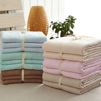Wholesale Home Naked thin comforter bedding set High quality knitted modal cotton summer quilt and blanket Japan style King Queen Full size