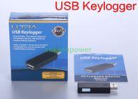 Wholesale USB Keylogger spy bug Computer Keyboard Recording Key Logger Computer USB Keyboard Interface Hardware Input Information Recorder