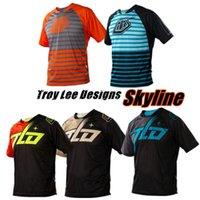 Wholesale TROY LEE DESIGNS TLD SE Jersey LE KTM Skyline Youth Jersey Blue Orange MTB BMX Men s Motocross Outdoor sports