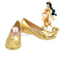 aladdin accessories - Aladdin and the magic lamp Princess Jasmine cos Cosplay Shoes Boots shoe boot JZ603 anime Halloween Christmas