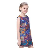 ancient trojans - Europe and the exquisite jacquard children dress Trojan coloured drawing or pattern of folk wind restoring ancient ways princess dress