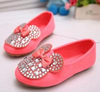 ballet flats children - Fashion Kids Candy Color Shoes Kids Shoes for Girls Fashion Korea Rhinestone Mickey Mouse Girls Shoes Casual Ballet Flat Shoes Children