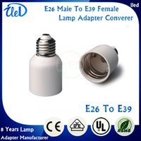 Wholesale Top Quality E26 to E39 lamp adapter converter E27 To E40 E26 Male To E39 Female