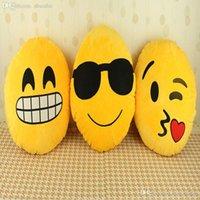 Wholesale Hot New Soft Emoji Smiley Emotico Yellow Round Cushion Pillow Stuffed Plush Soft Toy